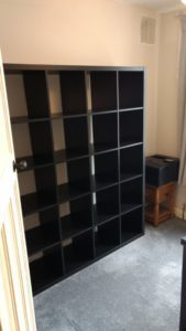 ikea billy bookcase assembled in East Midlands house