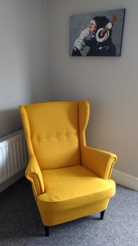 Ikea flat pack chair assembled